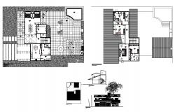 1 bhk plan DWG with elevation