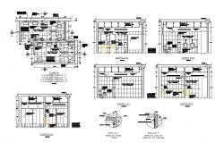 Public Toilet Layout plan with detail