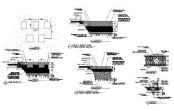 Outside seating arrangements plan view detail dwg file