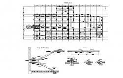 Raised floor and ceiling detail dwg file