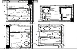 Public Toilet plan dwg file