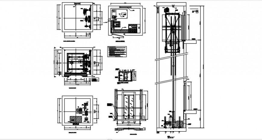 2 d cad drawing of elevator attitude auto cad software
