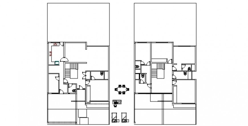 2 d cad drawing of rough house plan diagram Auto Cad