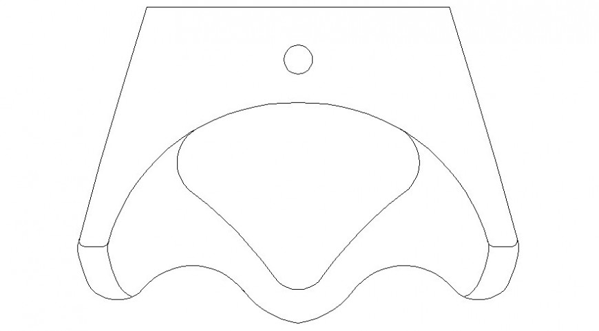 2d view drawings details of water closet units sanitary