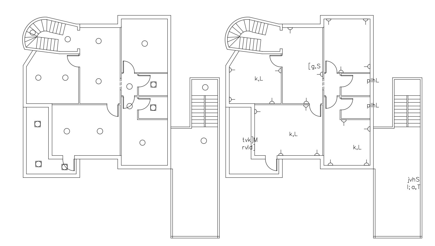 3 Bhk House Electrical Layout Plan Cad File