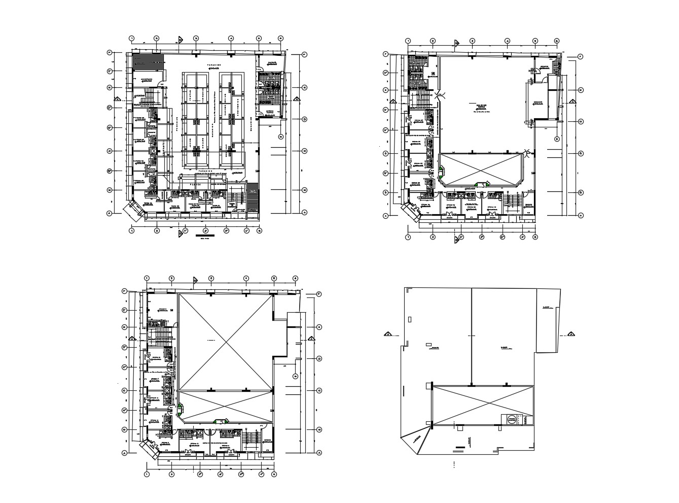 Architectural plan of office building with detail
