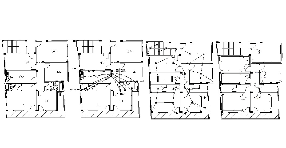 AutoCAD Drawing Drainage And Electrical Layout Plans DWG