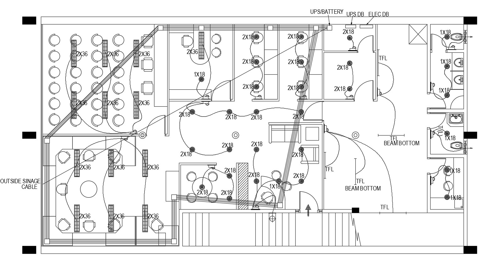 Autocad Drawing Of Electrical Layout Of Office