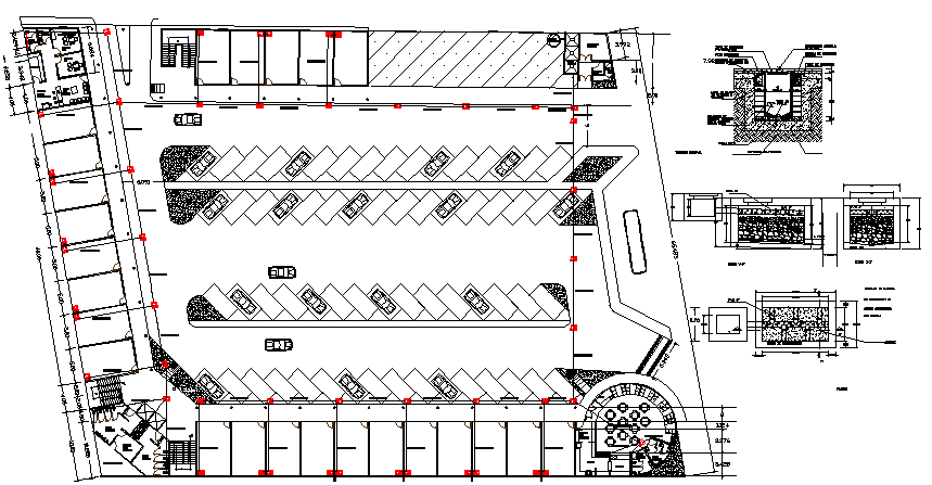 Basement floor plan layout with car parking of shopping