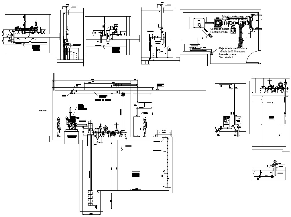 CAD drawing 2D file shows the details of the machinery