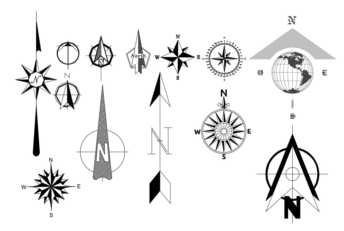 Cardinal Directions North Direction Symbol AutoCAD File