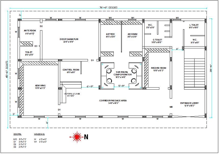 control room cad block, Control room plan view detail dwg