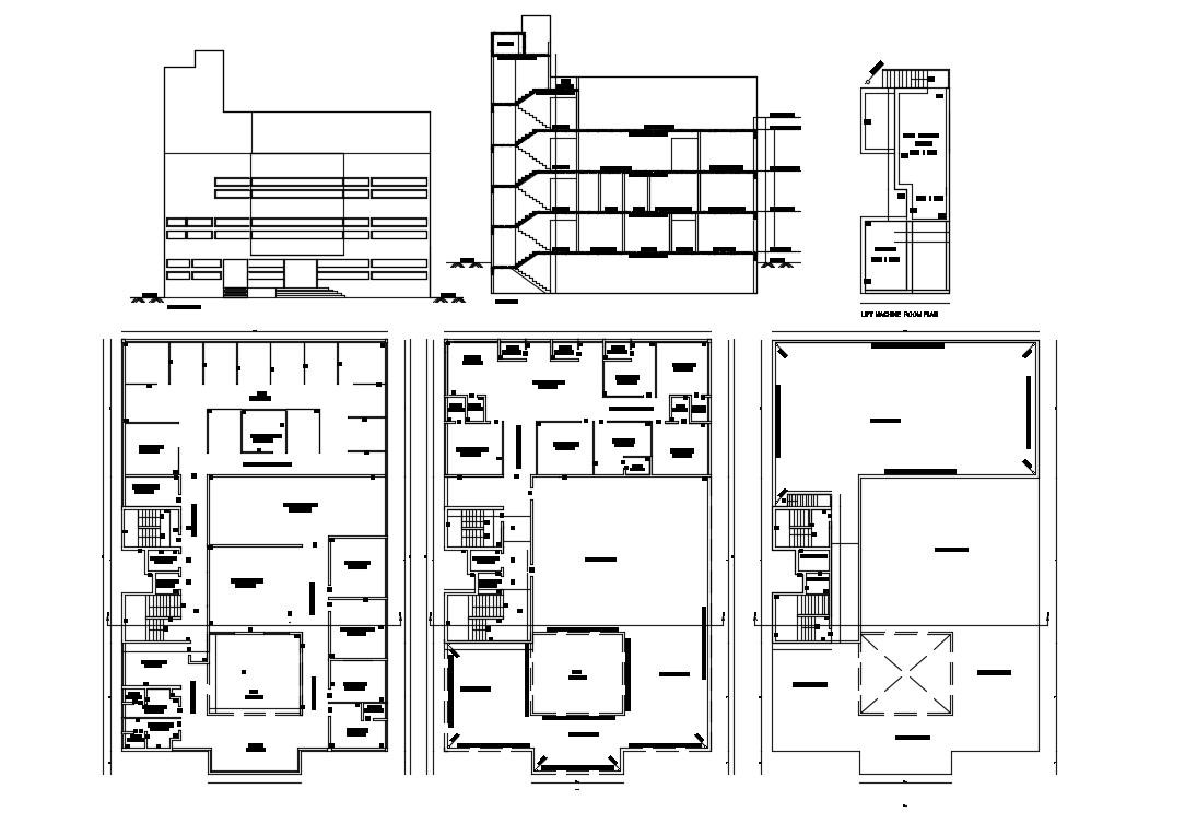 Download Commercial Building Floor Plans Elevation Section