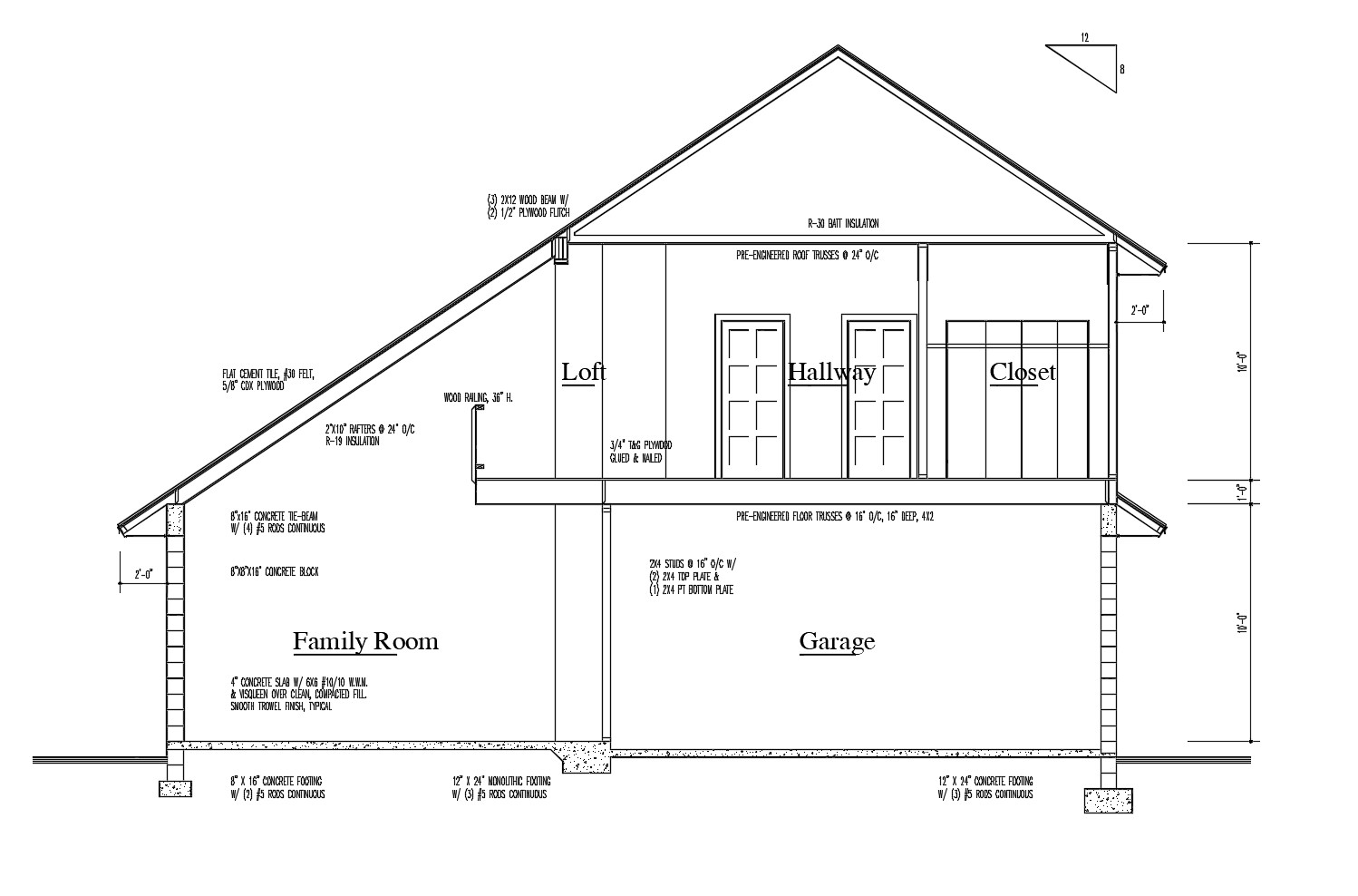 Drawing Of The House Plan With Detail Dimension In Autocad