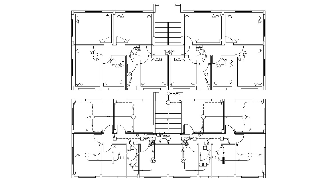 Electrical Layout Plan Of Office Building AutoCAD File