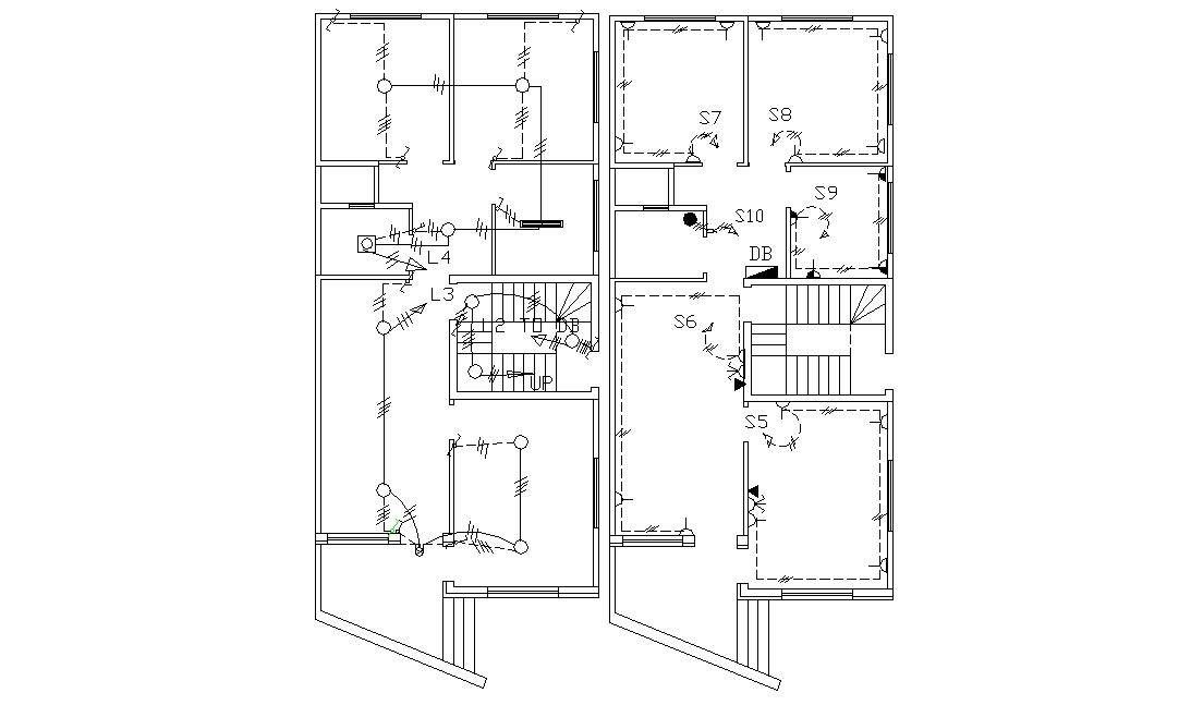 Electrical Layout Plan Of Residential Building AutoCAD