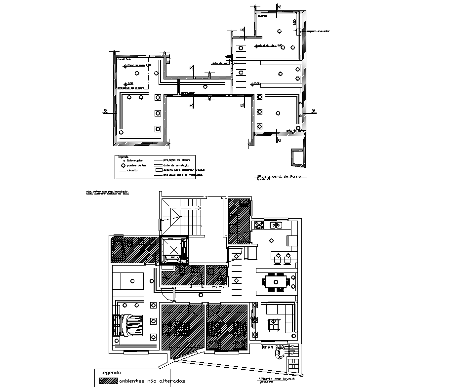Floor plan of Residential house with Electric layout in