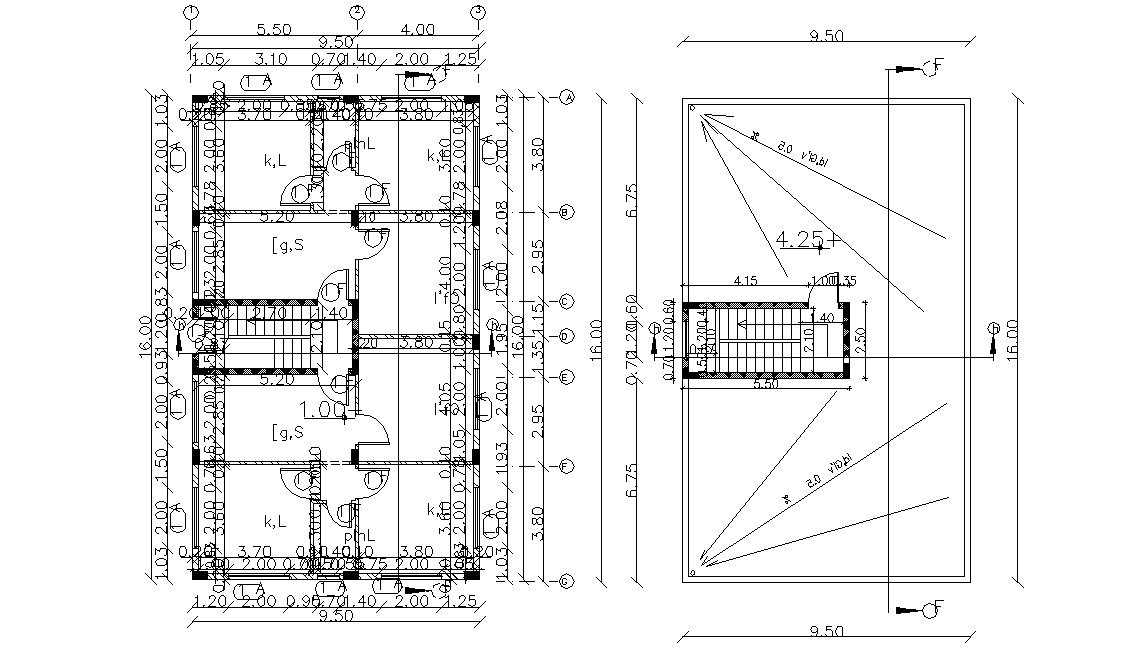 House Ground Floor And Terrace Plan Working Drawing DWG