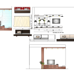 Living Room Furniture Detail Elevation Layout File