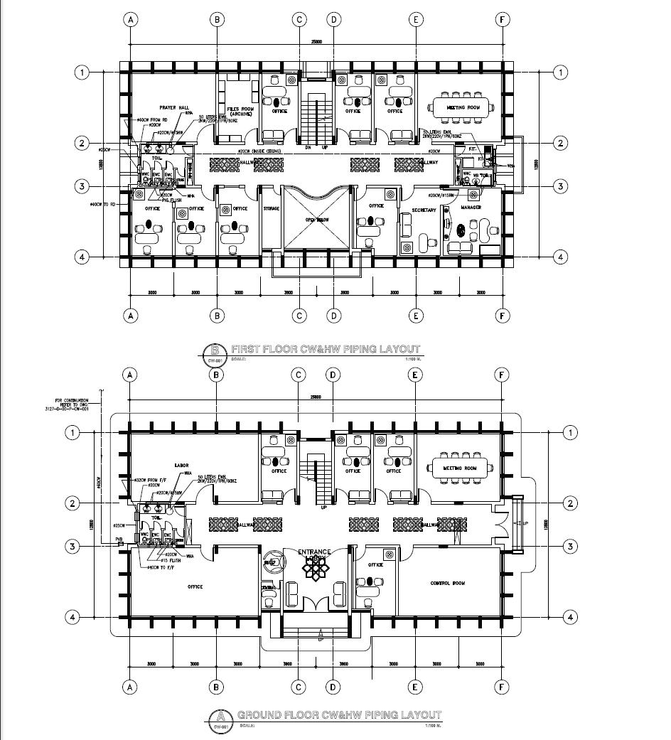 Piping Layout plan detail
