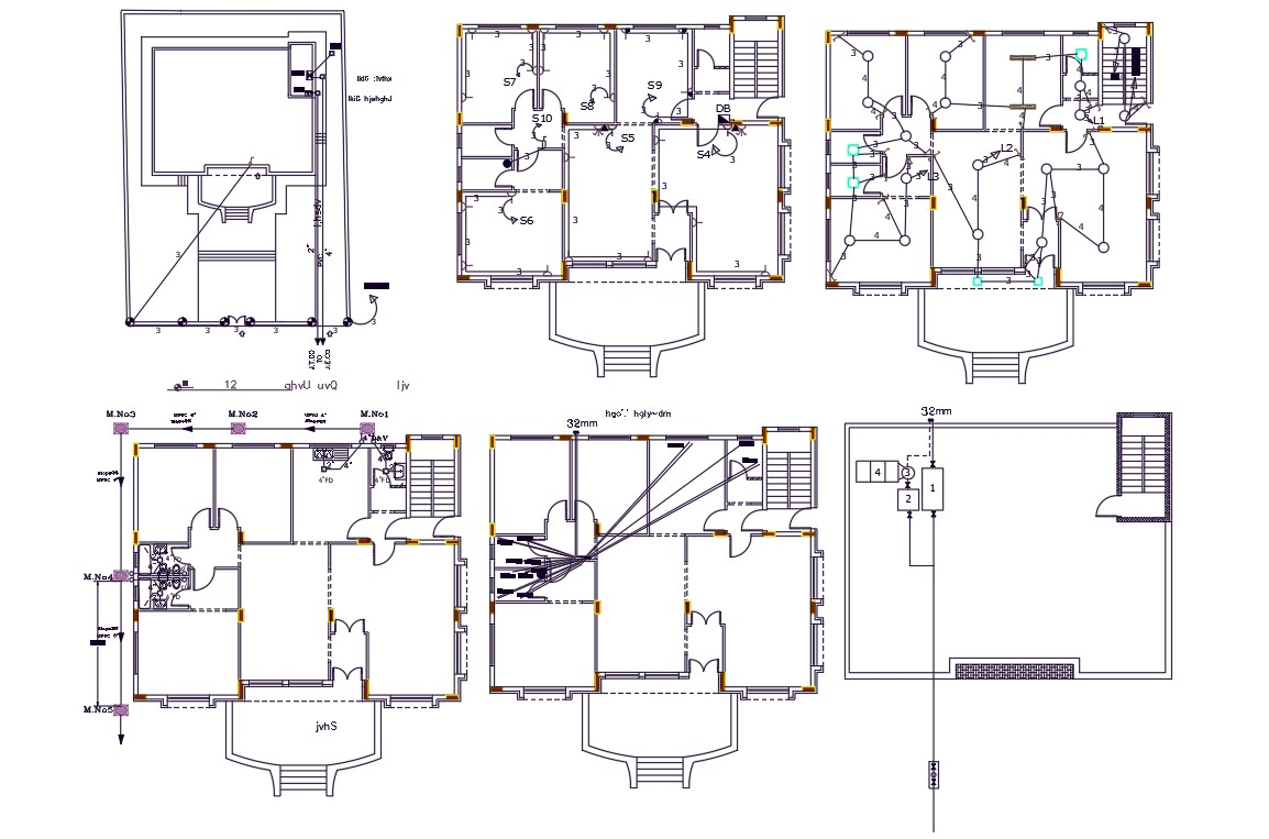 Porch House Electrical And Plumbing Layout Plan Design