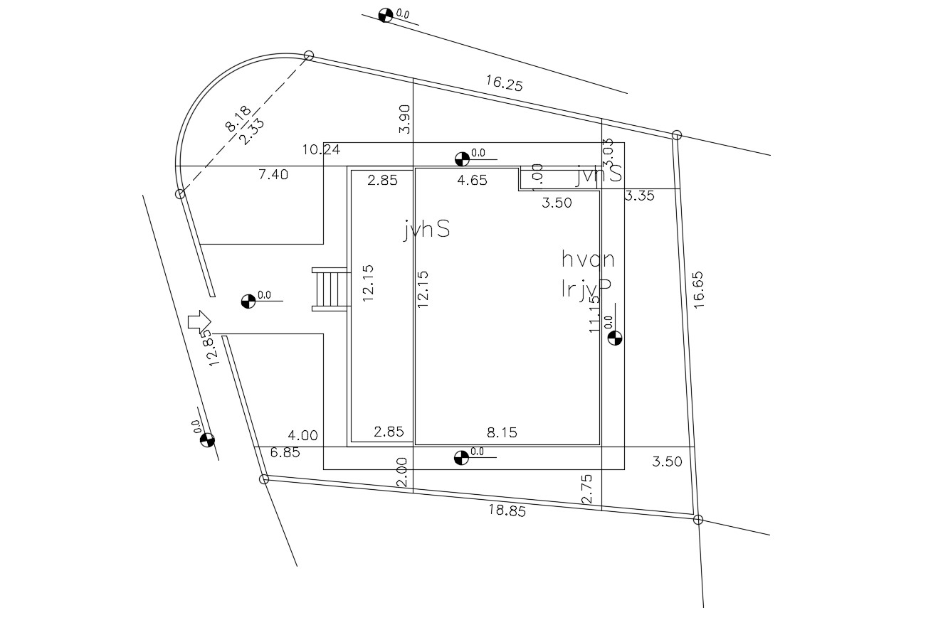 Survey Plot And Building Demarcation Plan and Dimension