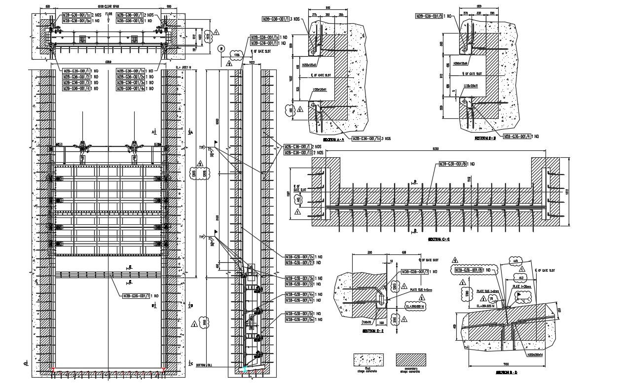 Tube Gate Sliding Designs Plan Cad Drawing