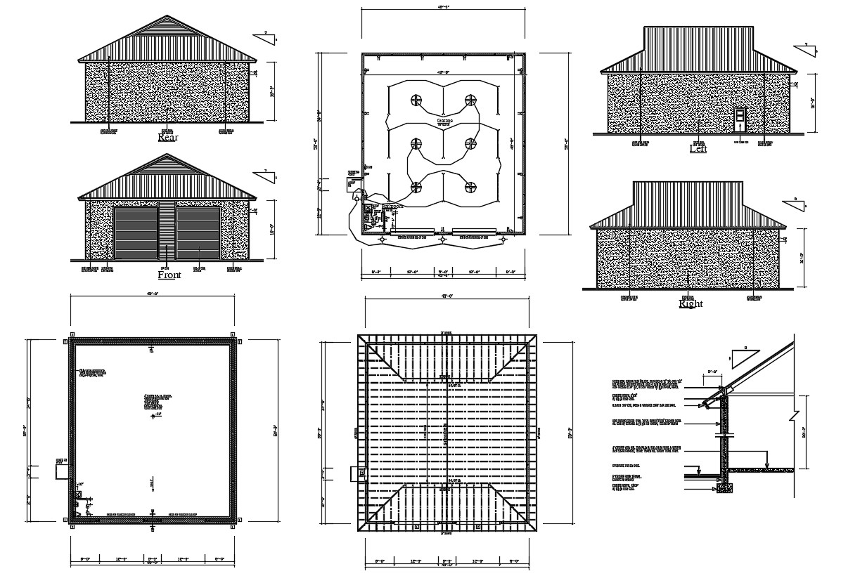 Warehouse Project Autocad Drawing