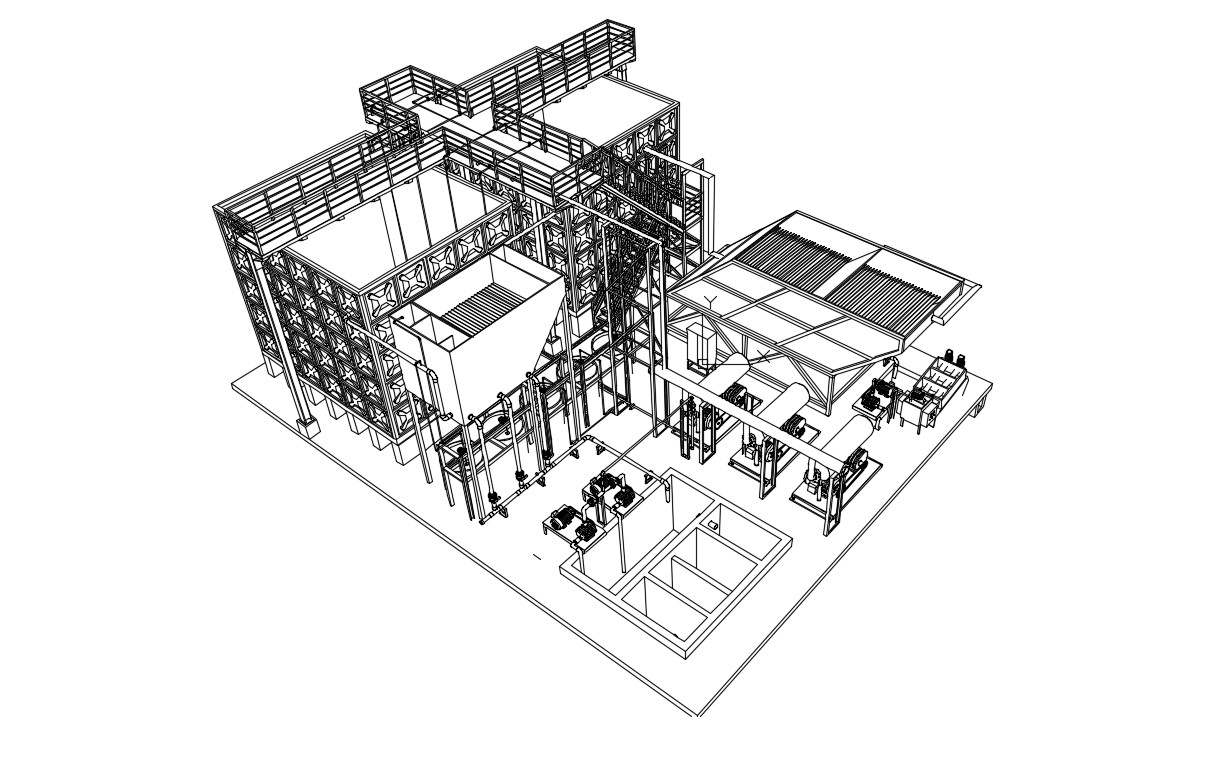 Water Treatment Plant 3d Isometric View