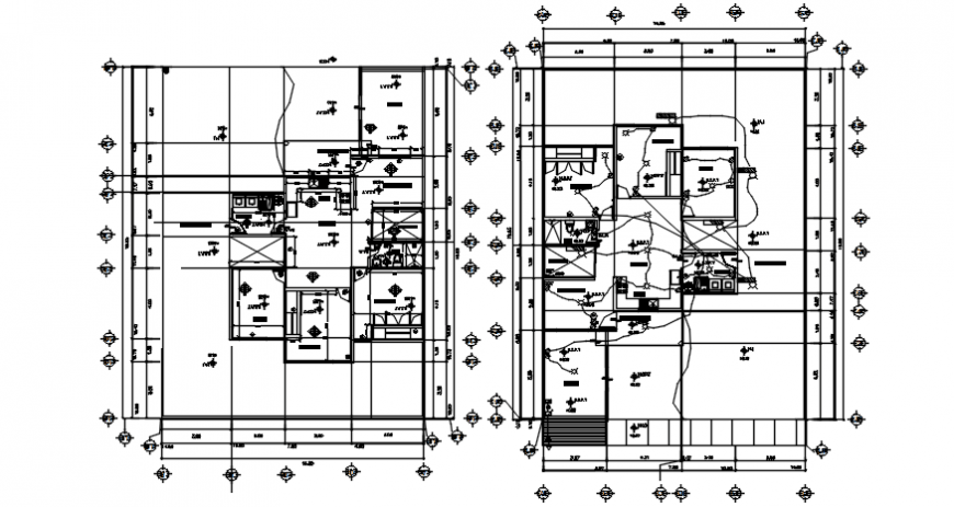 Autocad drawing of electrical working drawing plan of a