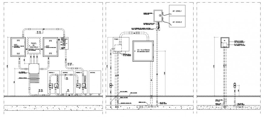 CAD drawings details of electrical automation units dwg