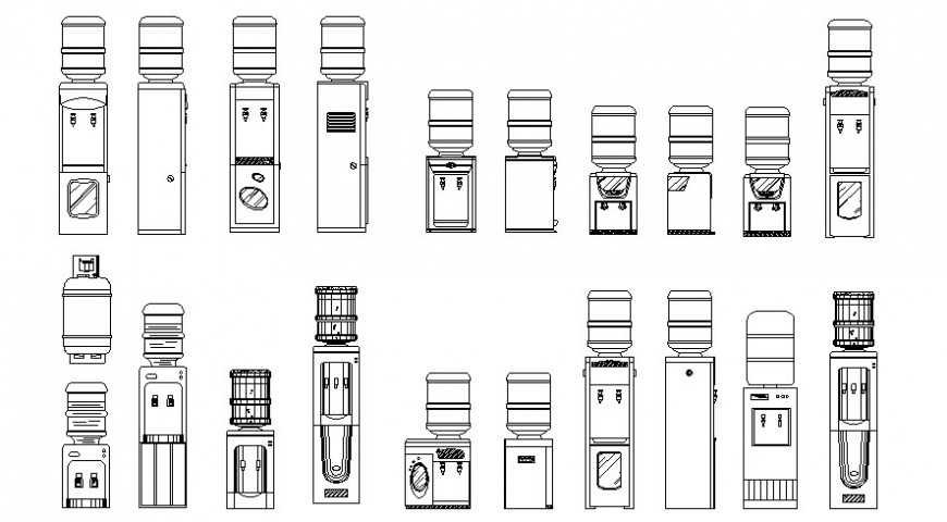 Drawing of water filter or Refrigerator block AutoCAD file