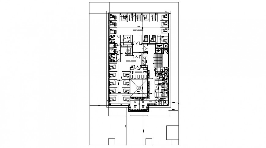 Drawings 2d view of office layout floorplan autocad