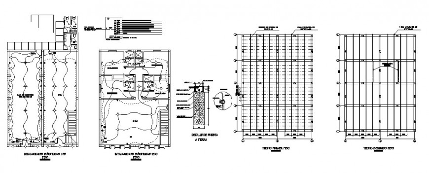 Electrical installation layout and cover plan details of