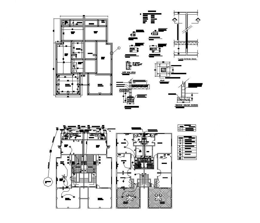 Electrical installation layout plan and auto-cad details