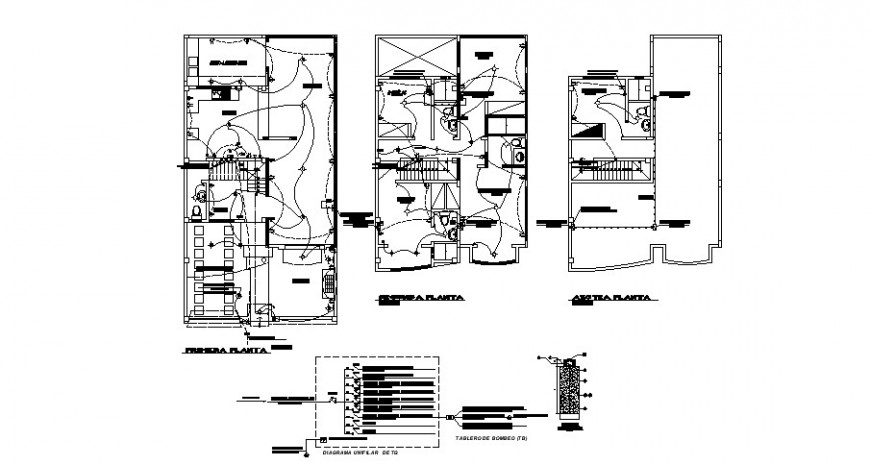 Electrical installation layout plan details 2d view