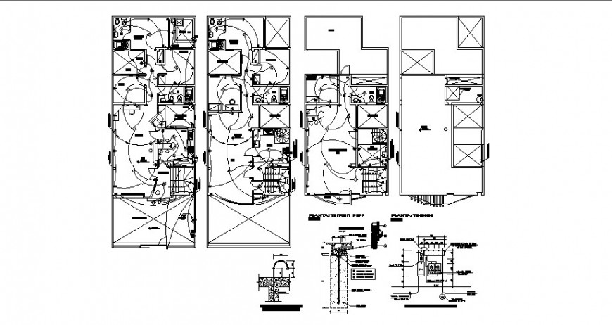 Electrical installation layout plan of all floors of