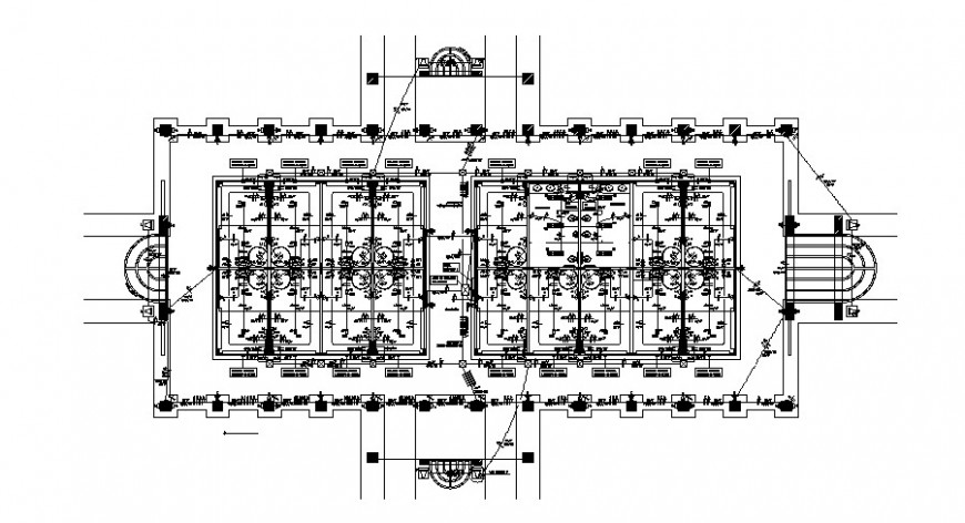 Electrical layout plan with service module of office