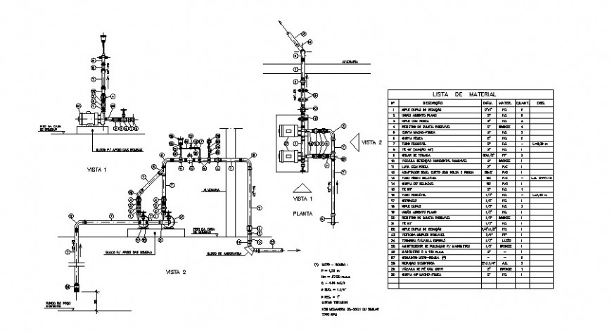 Electrical services, diagram and installation drawing