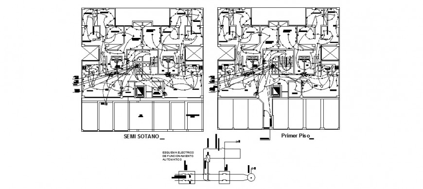 First floor and second floor electrical layout plan of