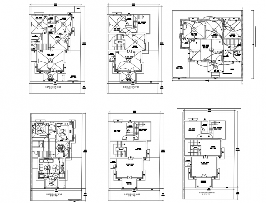 Floor plan and electrical layout plan of residential
