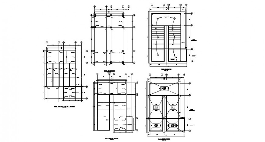 House floor foundation plan, cover plan and electrical
