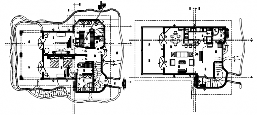 House one family layout plan and electrical layout plan