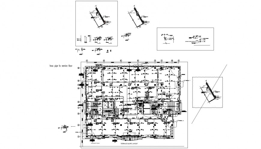 Layout of fire hydrate and sprinkler electric system of