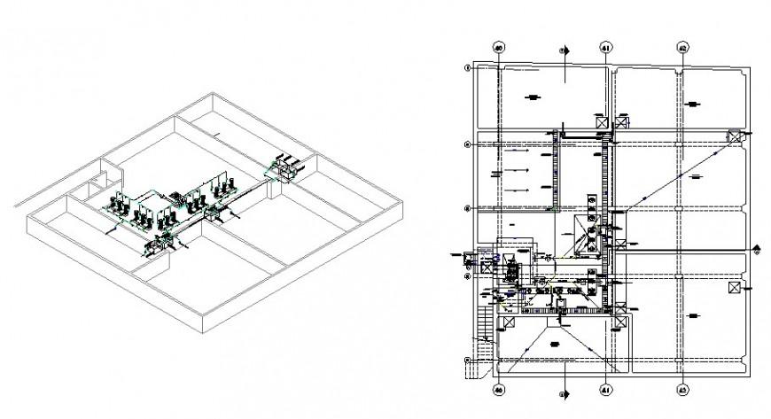 Plumbing installations pump room for hotel 3 basements