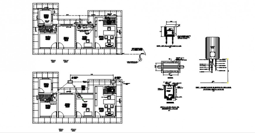 Plumbing office building 2d view CAD plan layout autocad