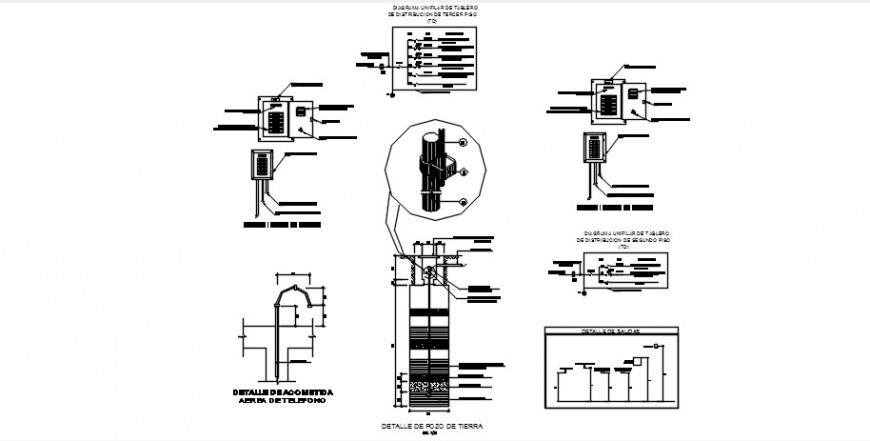 Riser diagram, telephone and electrical installation
