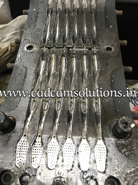 Plastic toothbrush mould by CAD CAM Solutions