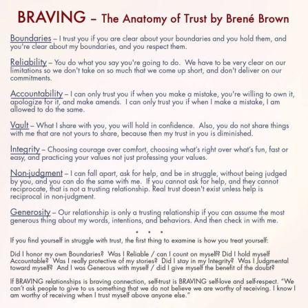 braving brown
