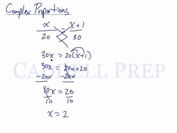 Solving Complex Proportions, Proportions with a Variable